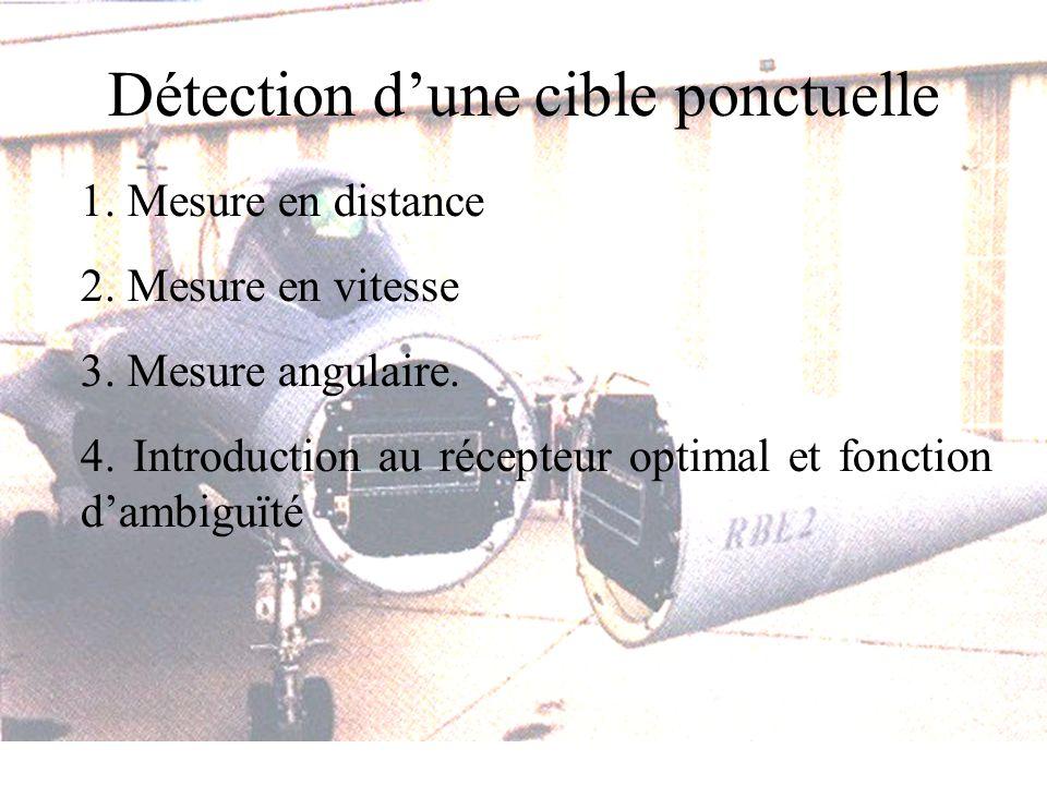 Détection dune cible ponctuelle 1. Mesure en distance 2.