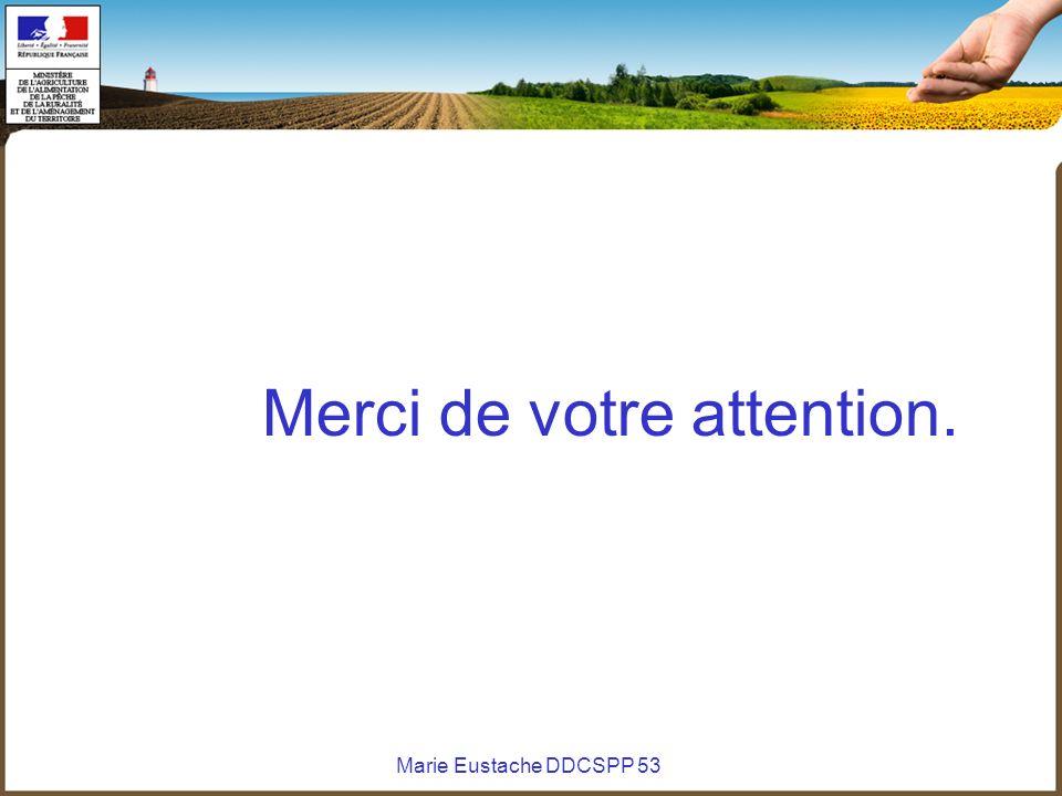 Marie Eustache DDCSPP 53 Merci de votre attention.