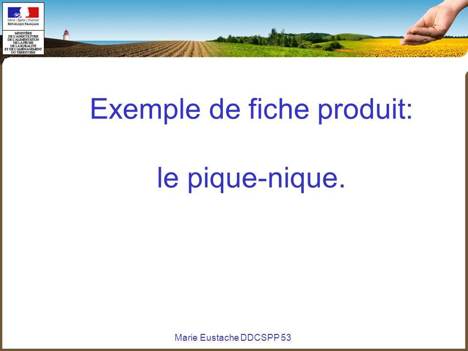 Marie Eustache DDCSPP 53 Exemple de fiche produit: le pique-nique.
