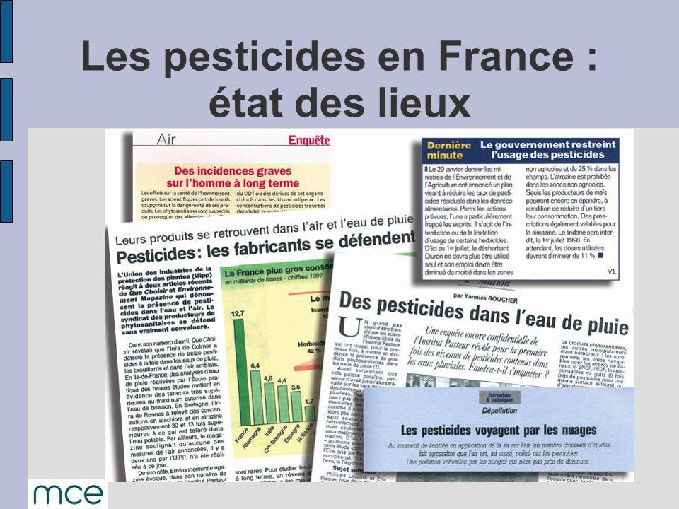 Les pesticides en France : état des lieux