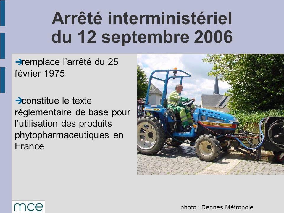 remplace larrêté du 25 février 1975 constitue le texte réglementaire de base pour lutilisation des produits phytopharmaceutiques en France Arrêté inte