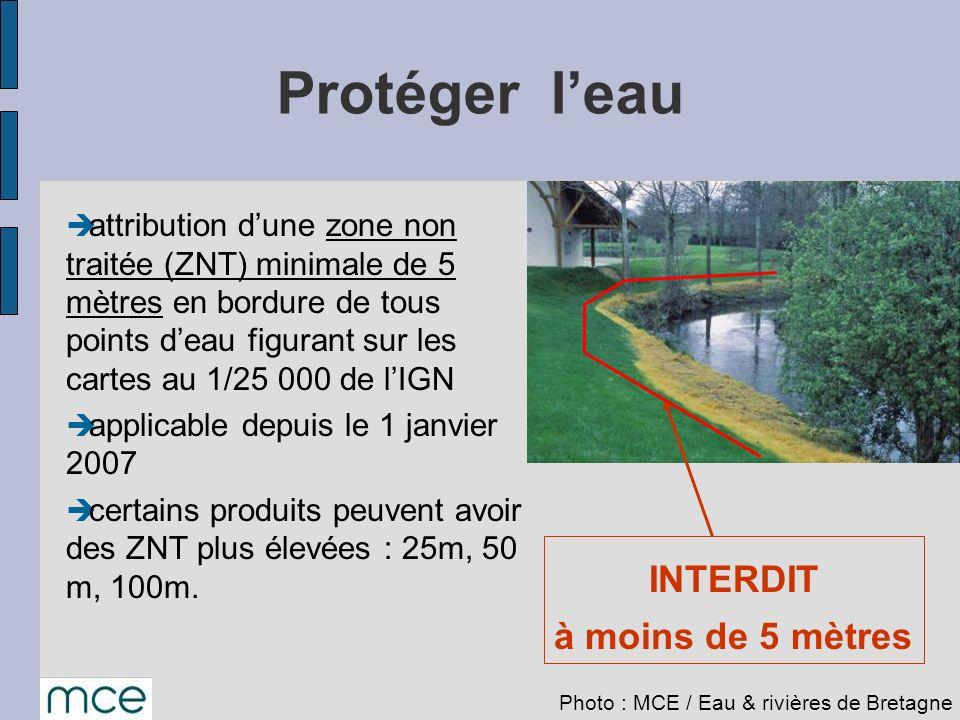 attribution dune zone non traitée (ZNT) minimale de 5 mètres en bordure de tous points deau figurant sur les cartes au 1/25 000 de lIGN applicable dep