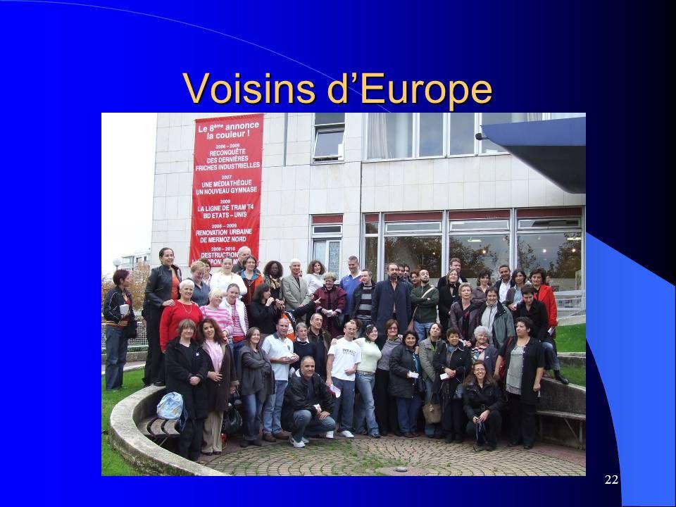 22 Voisins dEurope
