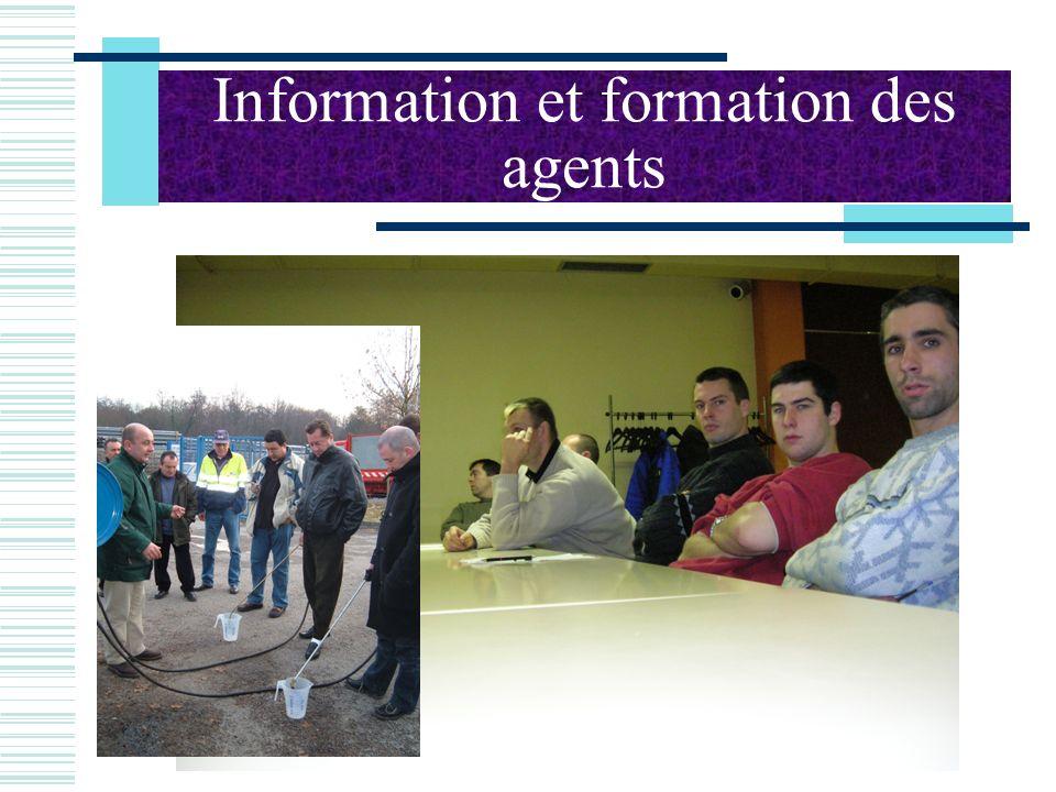 Information et formation des agents