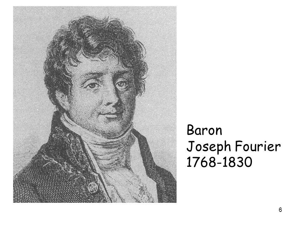 6 Baron Joseph Fourier 1768-1830