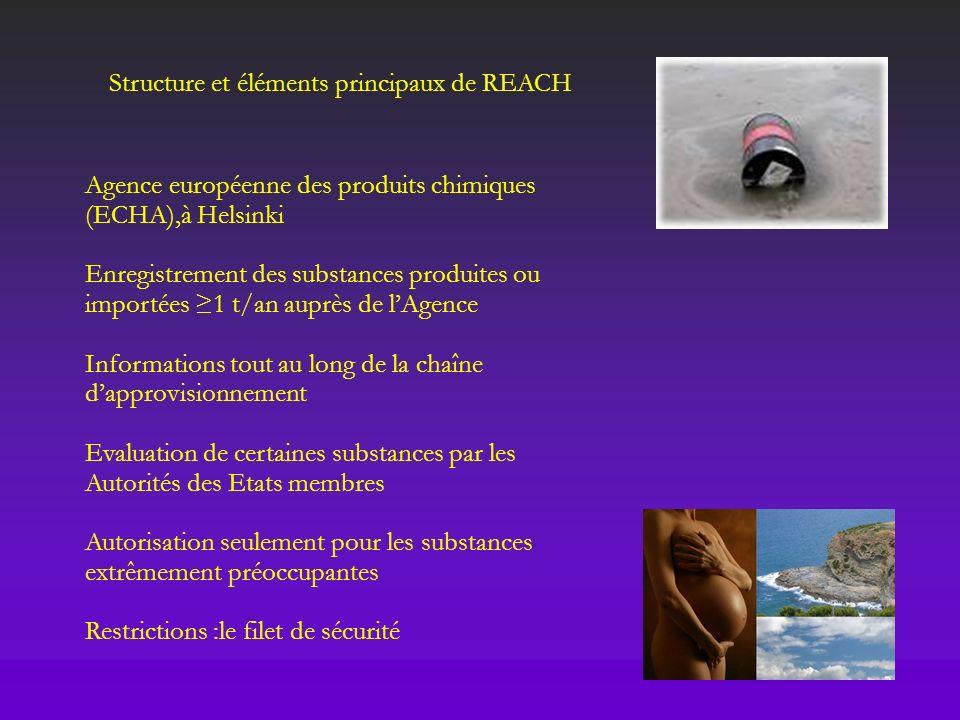REACH est applicable à la fabrication, à la mise sur le marché ou à lutilisation de substances chimiques: telles quelles (ex : méthanol, soude caustique…) contenues dans des préparations (ex : peinture, shampoing…) contenues dans des articles Champ dapplication de REACH