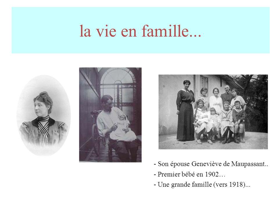 la vie en famille...- Son épouse Geneviève de Maupassant..