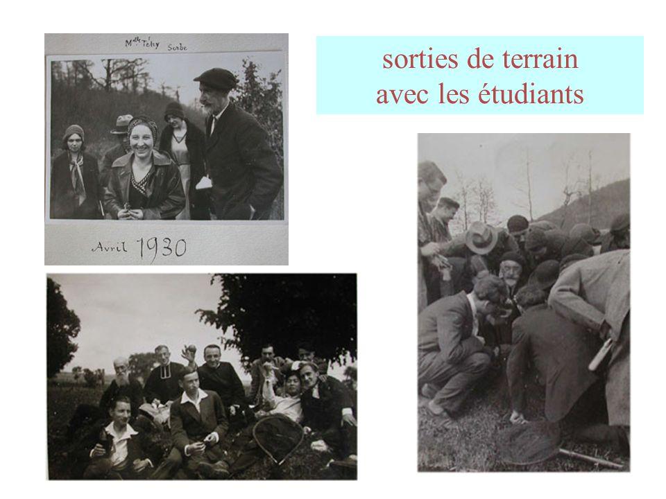 sorties de terrain avec les étudiants