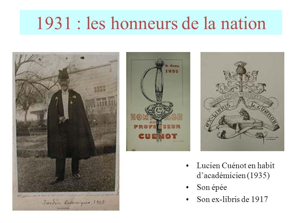 Lucien Cuénot lorsquil conçut sa fameuse expérience, initialement pour vérifier lhypothèse de la télégonie…