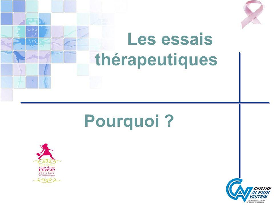 Les essais thérapeutiques Pourquoi ?