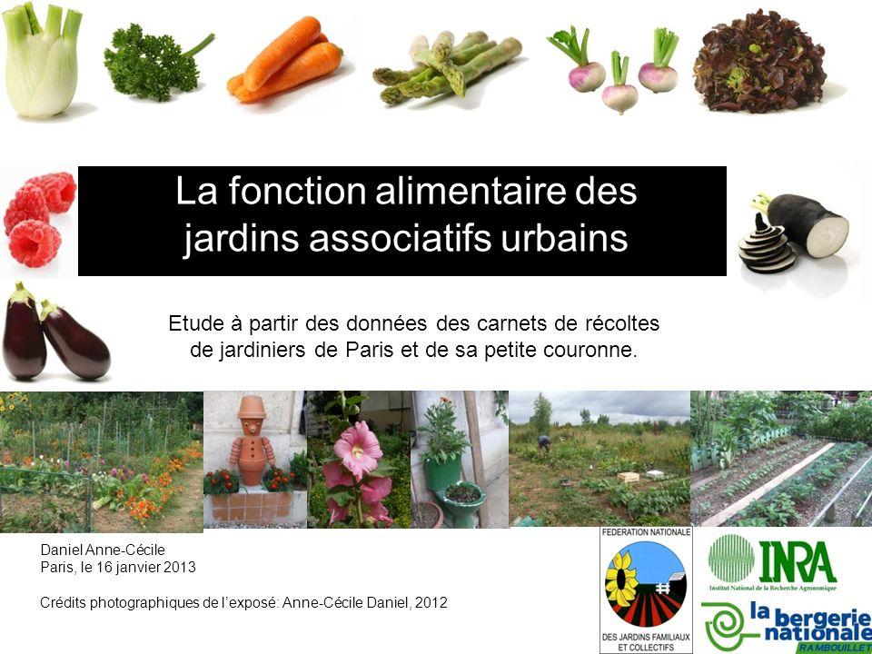 Contexte -> Dans le cadre dune thèse sur lagriculture urbaine (Jeanne Pourias): «Jardins associatifs urbains: pratiques, fonctions et risques.