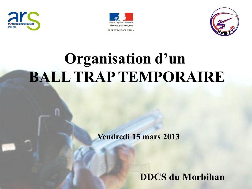 Organisation dun BALL TRAP TEMPORAIRE Vendredi 15 mars 2013 DDCS du Morbihan