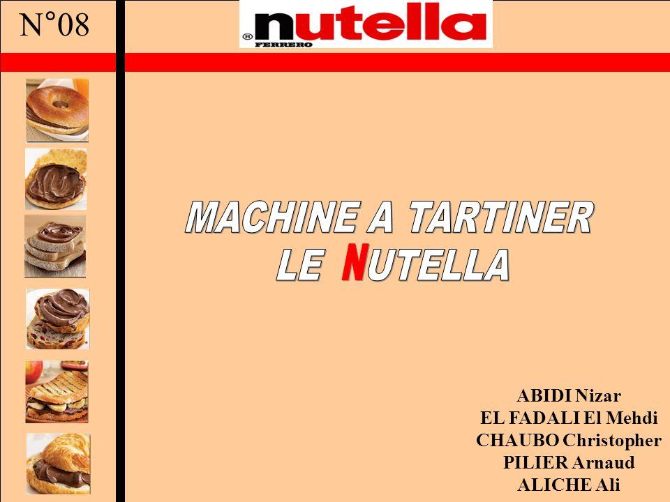 Sommaire La présentation du projet Le cahier des charges de Nutella Le cahier des charges Machine La recherche de solutions Les tests La solution retenue Conclusion