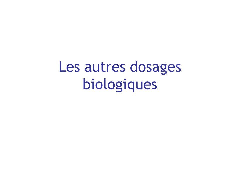 Les autres dosages biologiques