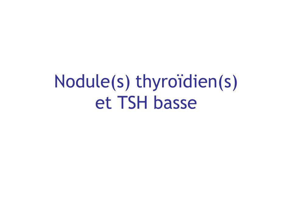 Nodule(s) thyroïdien(s) et TSH basse