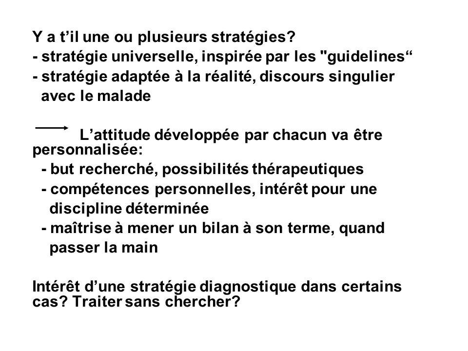 Y a til une ou plusieurs stratégies? - stratégie universelle, inspirée par les