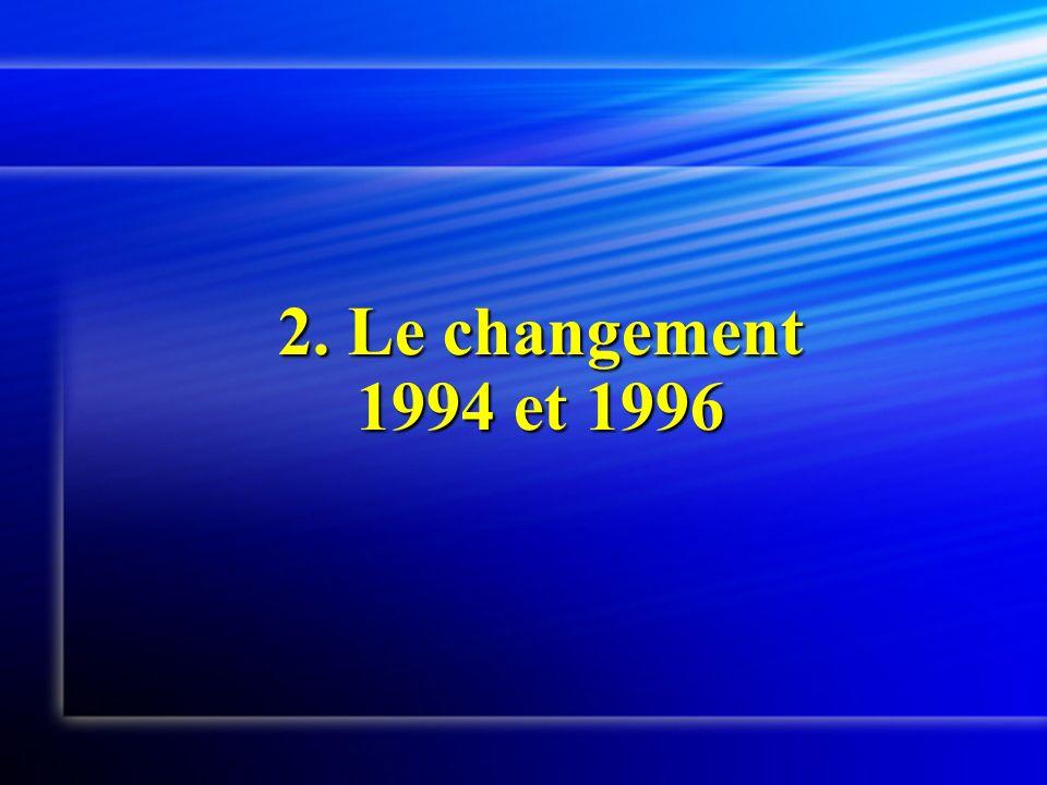 2. Le changement 1994 et 1996