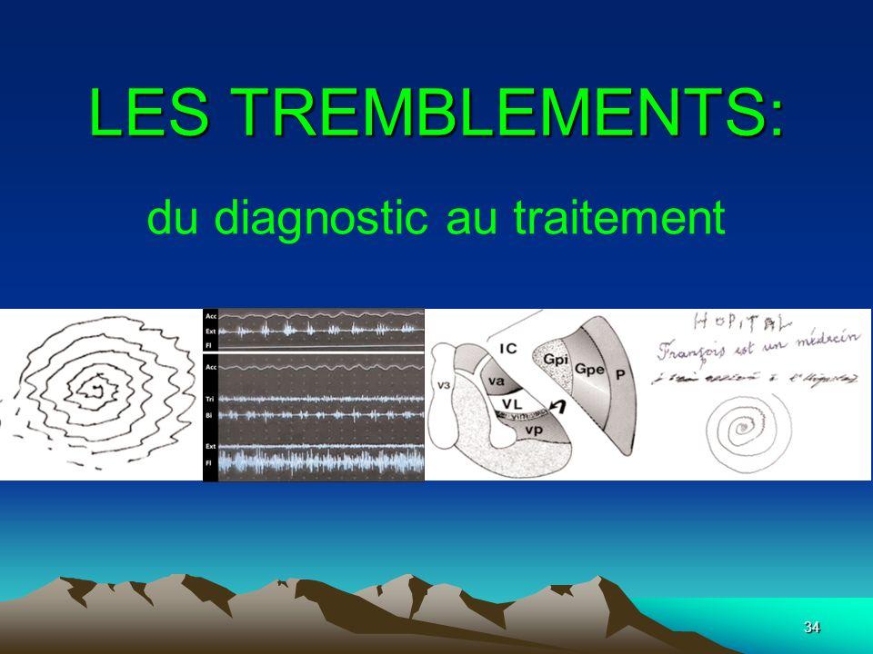 34 LES TREMBLEMENTS: du diagnostic au traitement