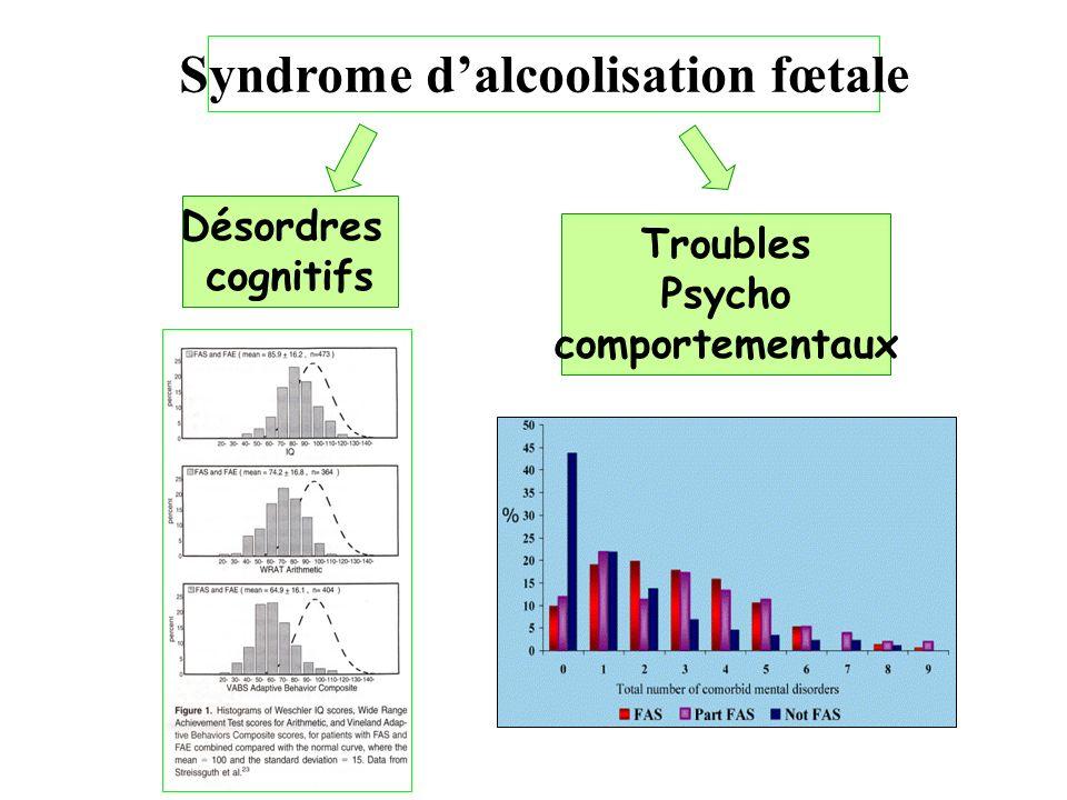 Syndrome dalcoolisation fœtale Désordres cognitifs Troubles Psycho comportementaux