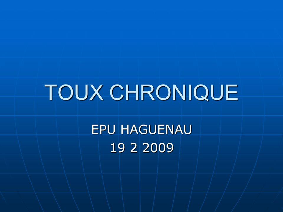 TOUX CHRONIQUE EPU HAGUENAU 19 2 2009