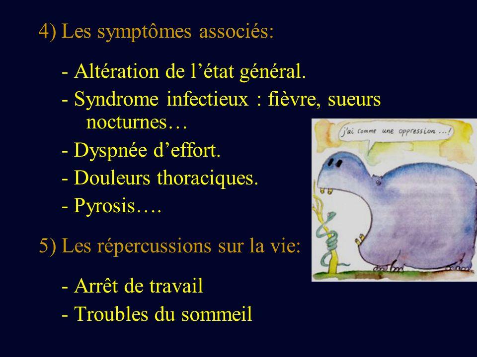 II) EXAMEN CLINIQUE: 1) Examen O.R.L.: jetage postérieur 2) Examen pleuro-pulmonaire