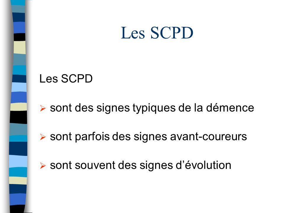 Les SCPD sont des signes typiques de la démence sont parfois des signes avant-coureurs sont souvent des signes dévolution