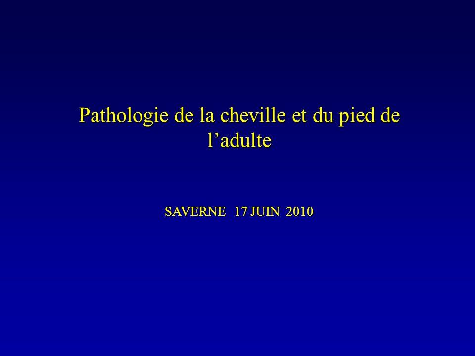 Pathologie de la cheville et du pied de ladulte SAVERNE 17 JUIN 2010