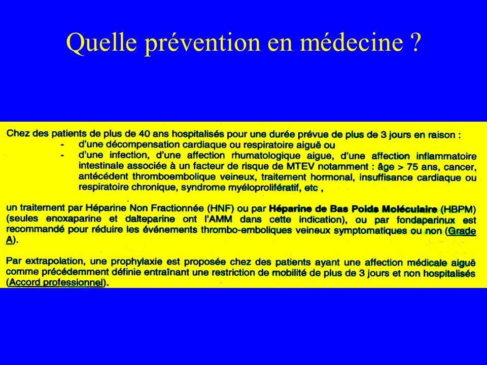 Quelle prévention en médecine ?