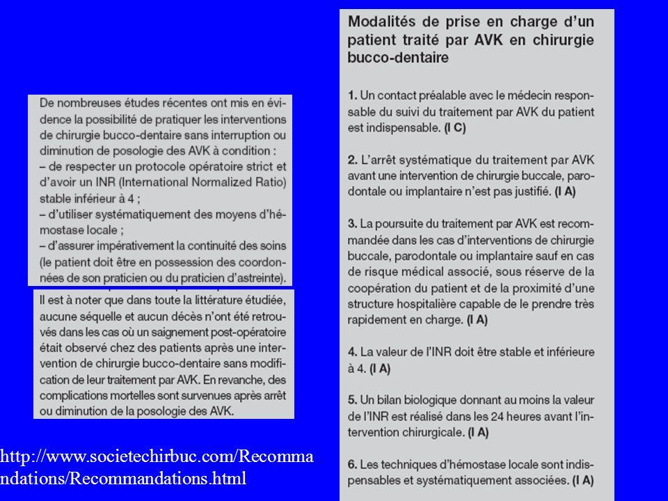 http://www.societechirbuc.com/Recomma ndations/Recommandations.html