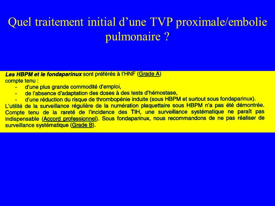 (Agneli et al., 2001) Durée de traitement TVP: 3 mois vs 1 an