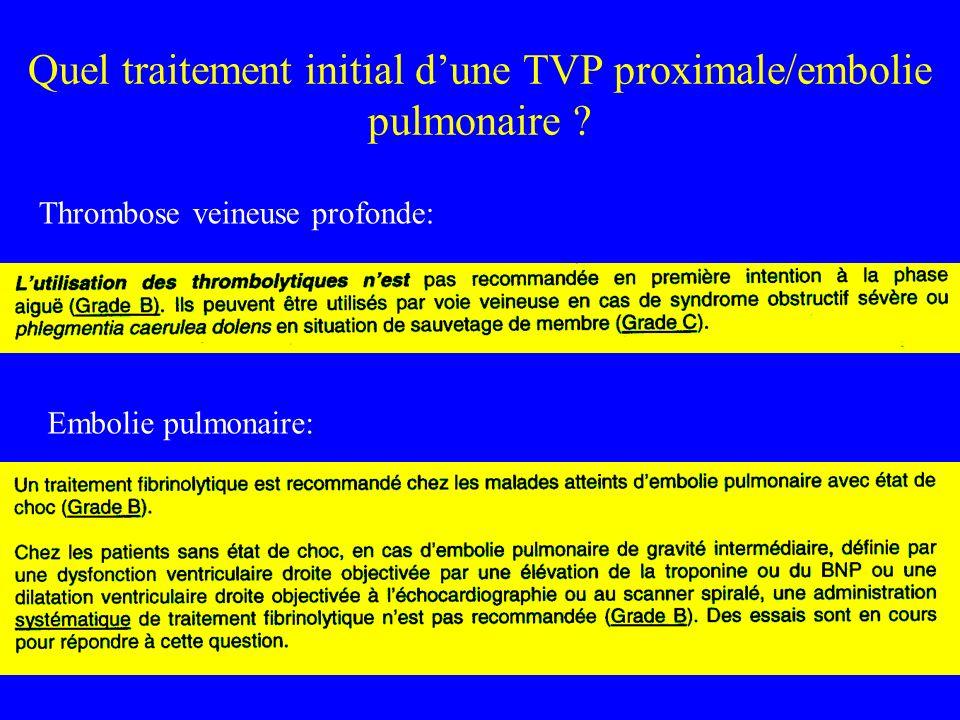 Embolie pulmonaire: Thrombose veineuse profonde: