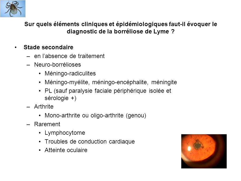 Sur quels éléments cliniques et épidémiologiques faut-il évoquer le diagnostic de la borréliose de Lyme .