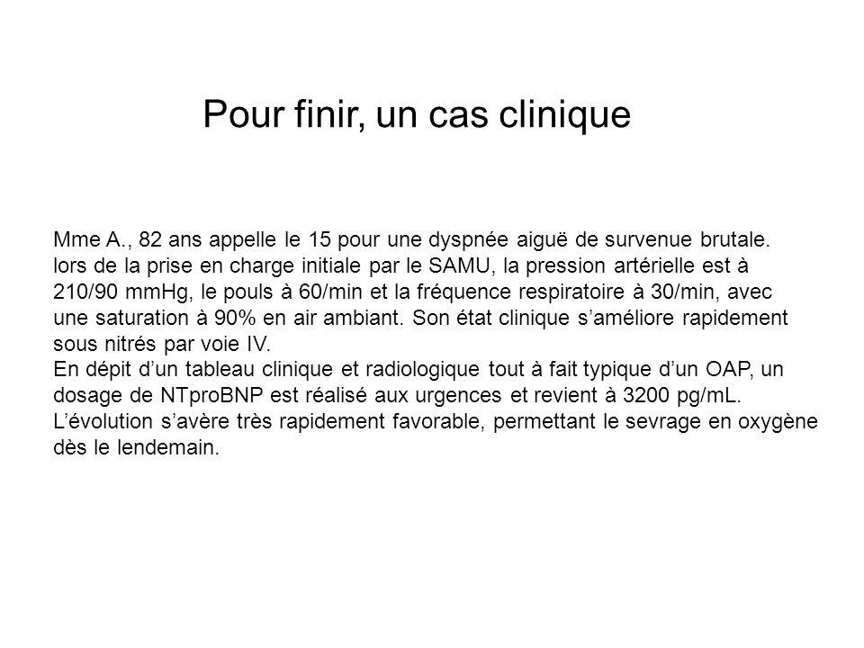Cas clinique (suite) Bilan hospitalier permet de rattacher cet épisode dICA à une cardiopathie hypertensive Mme A.