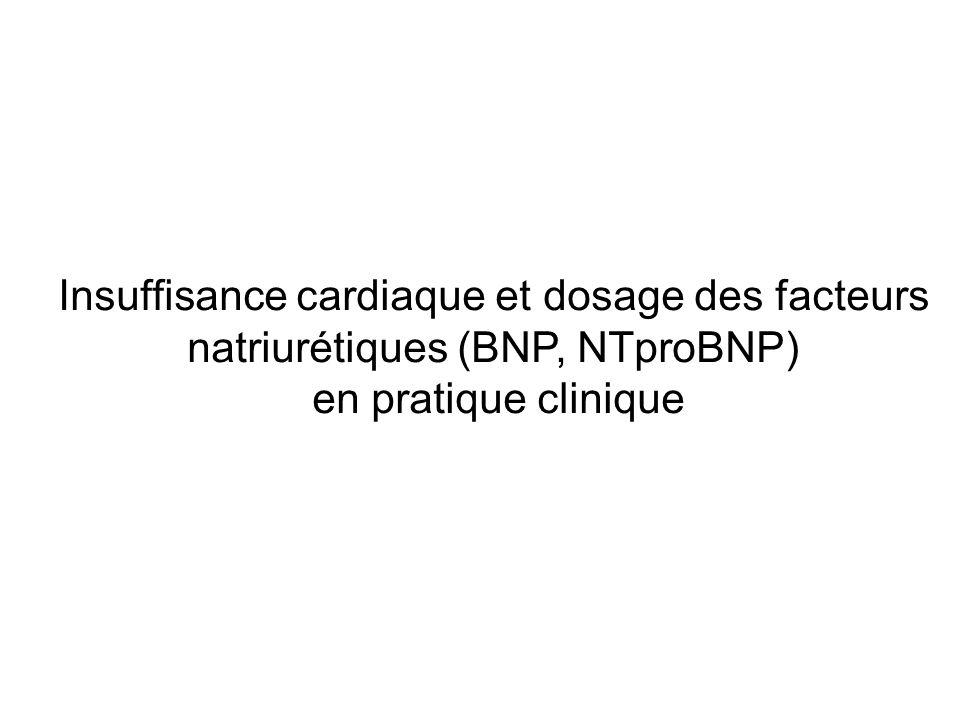 Les peptides natriurétiques - Deux membres principaux : ANP et BNP - Synthétisés essentiellement par les myocytes cardiaques