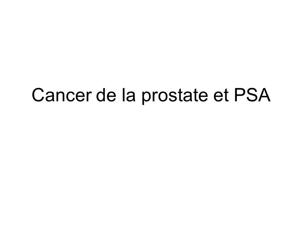 Dépistage cancer de la prostate Cancer de la prostate : dépistage de masse par dosage sanguin de PSA, malgré absence de recommandations favorables Réticences ++ –Craintes de sur-diagnostics –Doutes sur son efficacité réelle : impact du dépistage en termes de baisse de la mortalité ?
