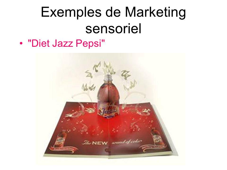 Exemples de Marketing sensoriel Diet Jazz Pepsi
