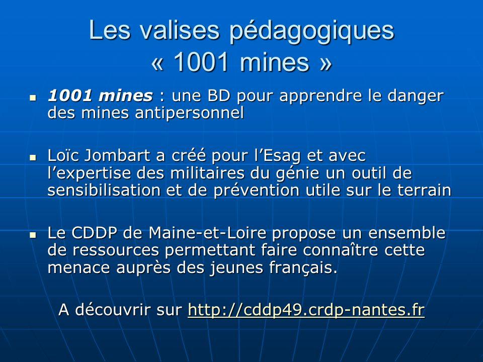 Les valises pédagogiques « 1001 mines » 1001 mines : une BD pour apprendre le danger des mines antipersonnel 1001 mines : une BD pour apprendre le dan