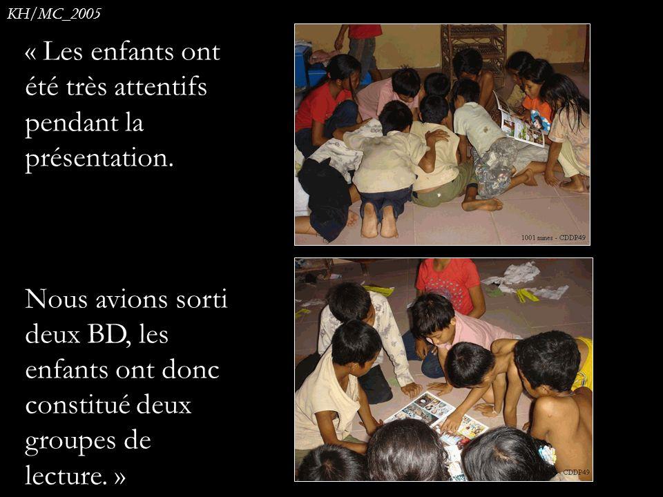 « Les enfants ont été très attentifs pendant la présentation.