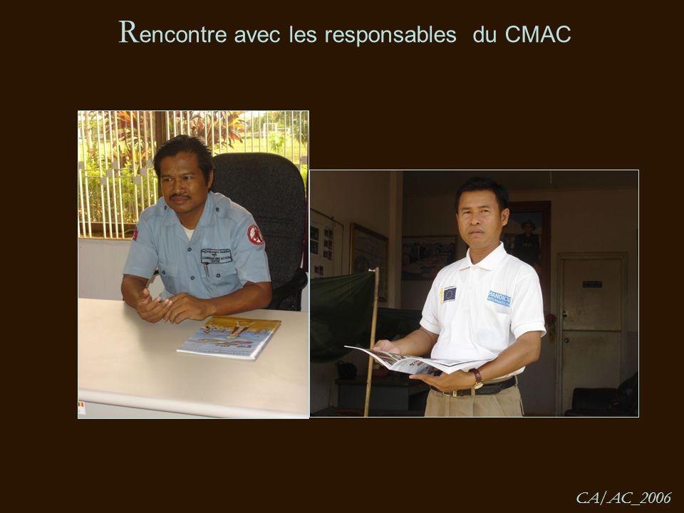 R encontre avec les responsables du CMAC CA/AC_2006