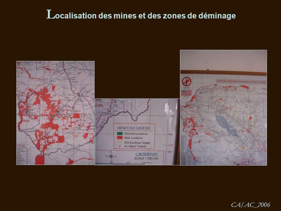L ocalisation des mines et des zones de déminage CA/AC_2006