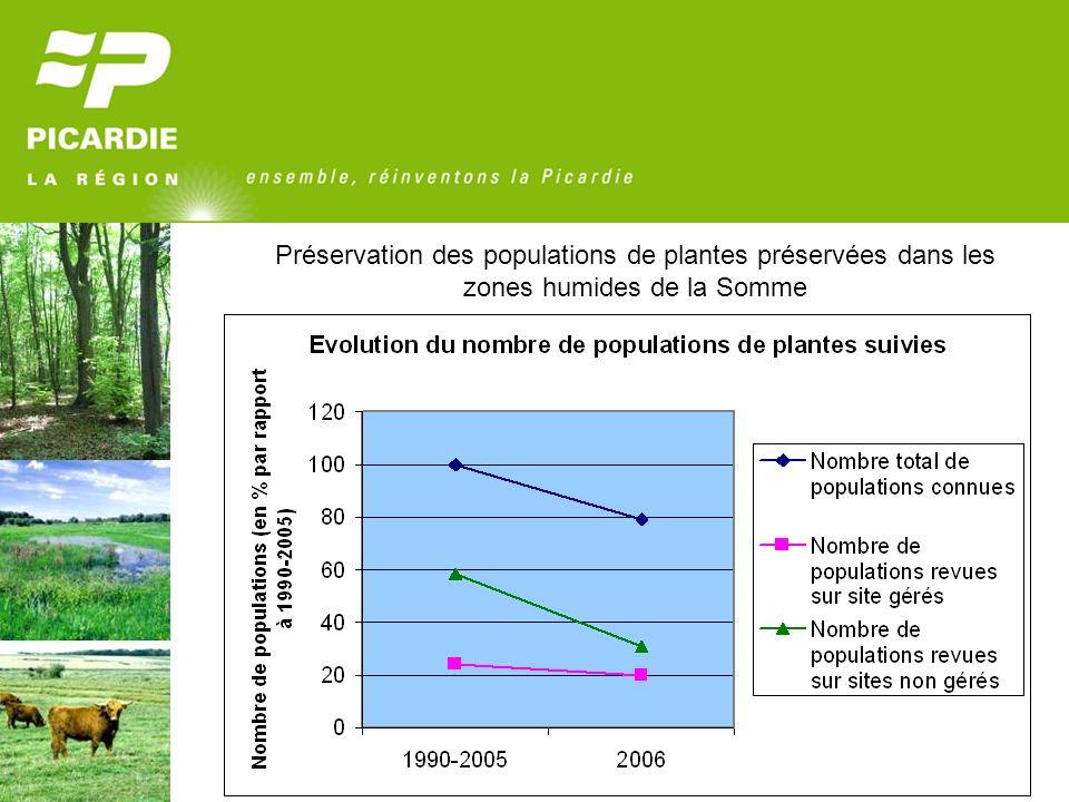 Préservation des populations de plantes préservées dans les zones humides de la Somme