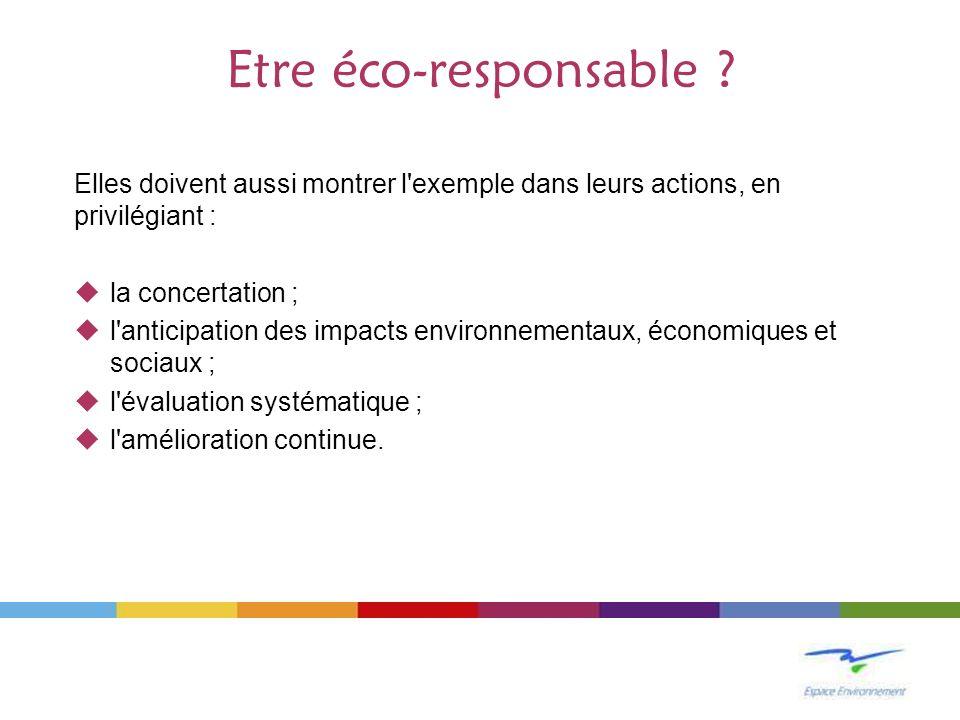Actions thématiques (1/2) Economie de consommables >Institut Bruxellois pour la Gestion de lEnvironnement (BE- IBGE) >Mise en œuvre du volet « bureaux » du Plan Déchets de la Région de Bruxelles-Capitale, qui a un objectif de réduction de 10 à 30 % des consommations de papier, et de 5 % des consommations dénergie >Action « to print or not to print » basée sur le thème de léco- efficacité = –moins de papier, –moins dénergie –moins de frais –plus de circulation de linformation.
