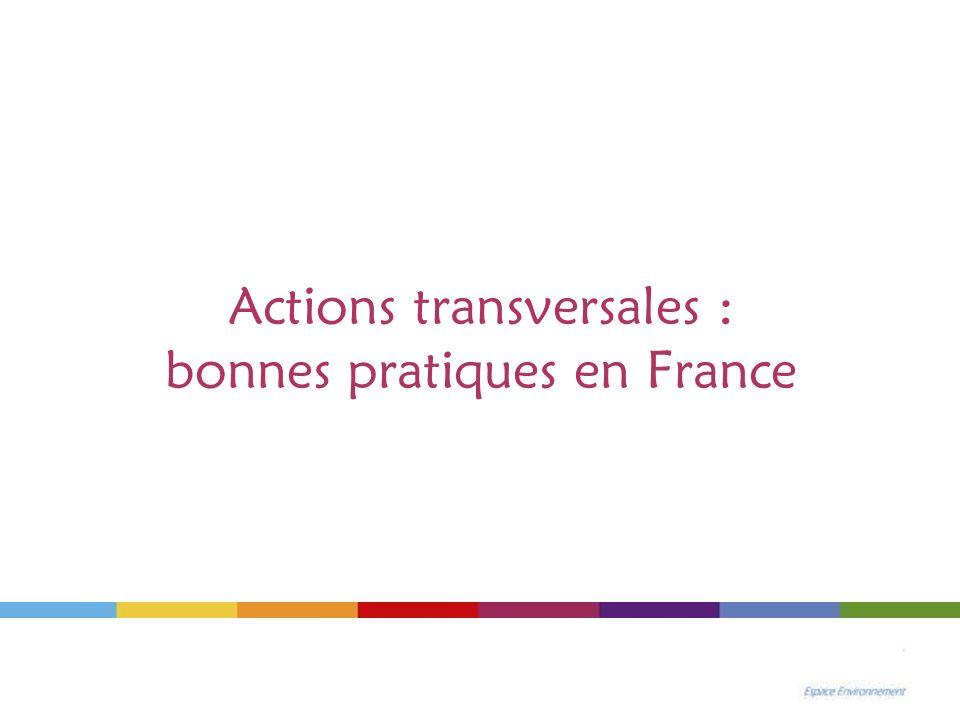 Actions transversales : bonnes pratiques en France