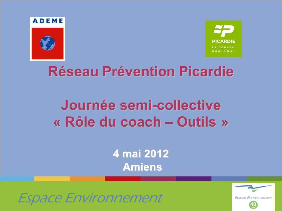 Espace Environnement Réseau Prévention Picardie Journée semi-collective « Rôle du coach – Outils » 4 mai 2012 Amiens