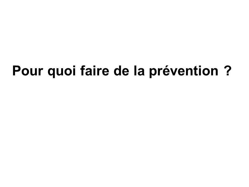 Pour quoi faire de la prévention ?