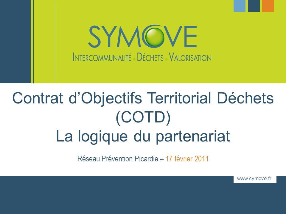 www.symove.fr Réseau Prévention Picardie – 17 février 2011 Contrat dObjectifs Territorial Déchets (COTD) La logique du partenariat