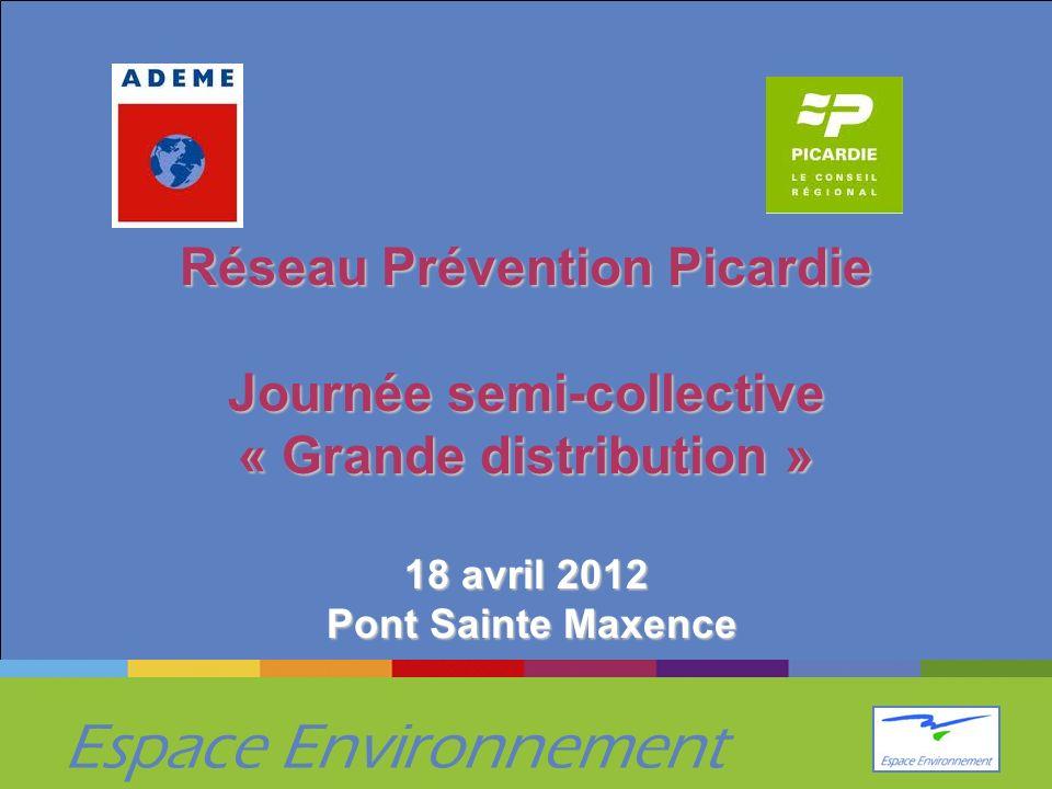 Espace Environnement Réseau Prévention Picardie Journée semi-collective « Grande distribution » 18 avril 2012 Pont Sainte Maxence