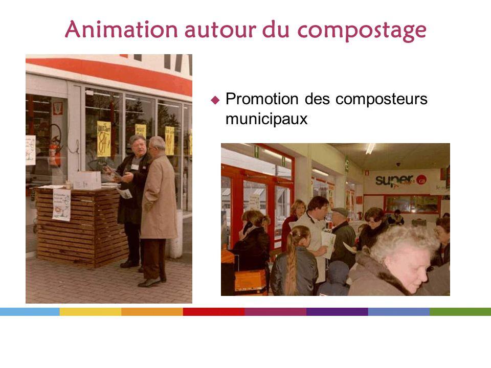Animation autour du compostage Promotion des composteurs municipaux