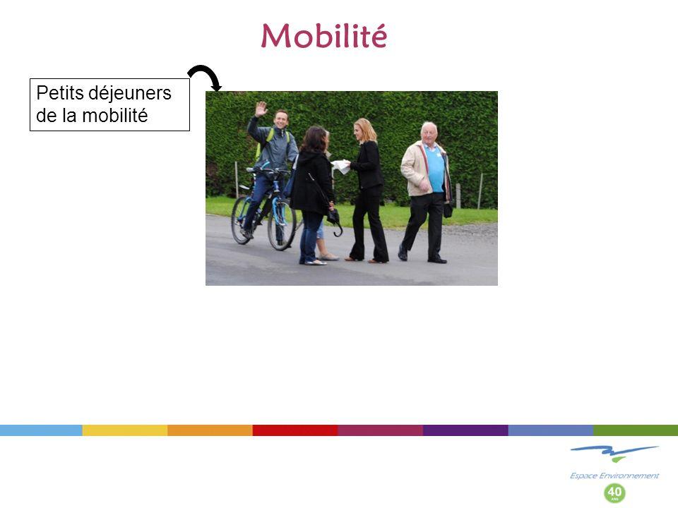 Mobilité Petits déjeuners de la mobilité