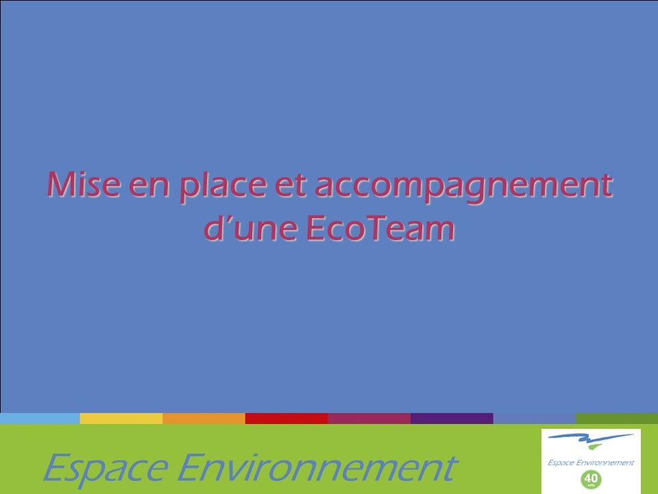 Espace Environnement Mise en place et accompagnement dune EcoTeam